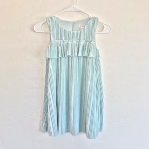 Cat & Jack Girls Mint Pleated Velvet Dress Small